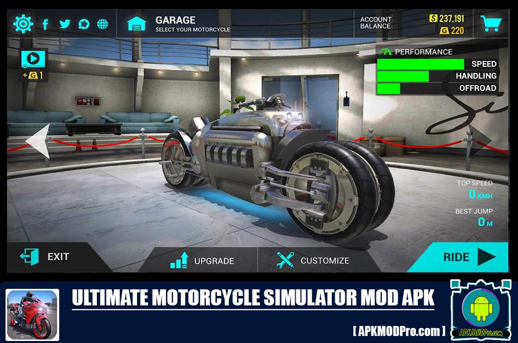Download Ultimate motorcycle simulator MOD APK