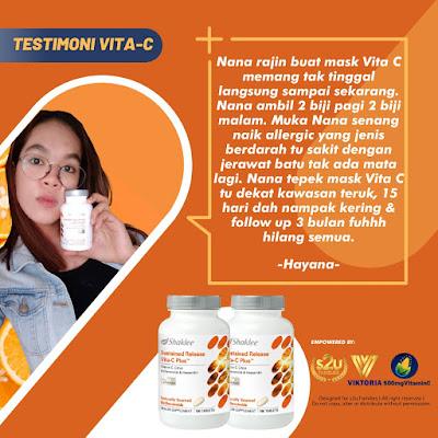 Testimoni Vitamin C Shaklee Untuk Jerawat