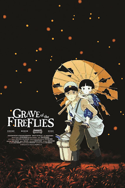 Cartel en inglés de la película Grave of the FireFlies