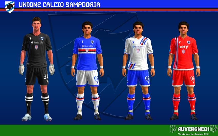 Kits Sampdoria 2021-2022 For PES 2013