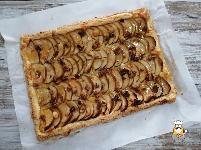 Tarta de manzana y queso de cabra