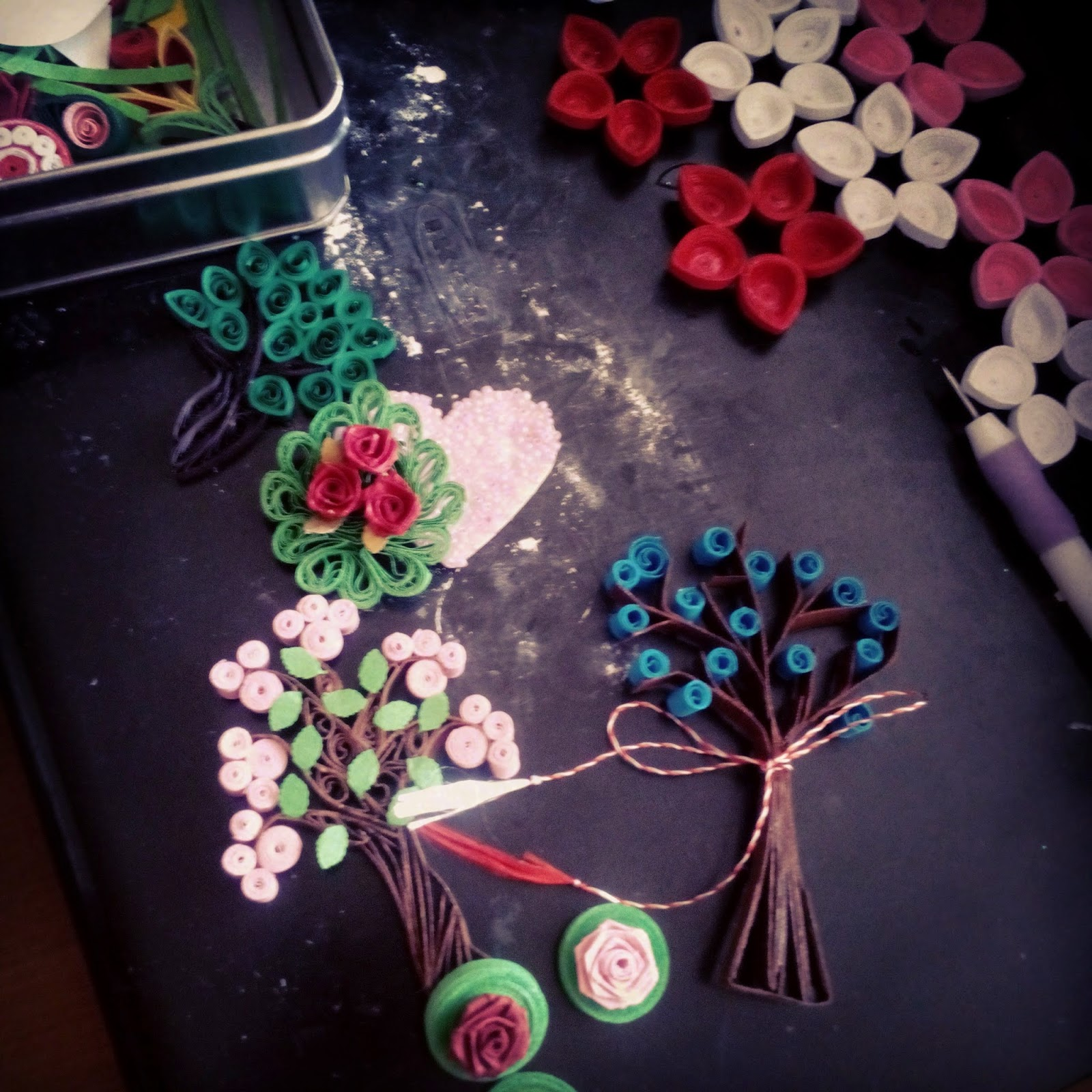 Quilling Paper Trees