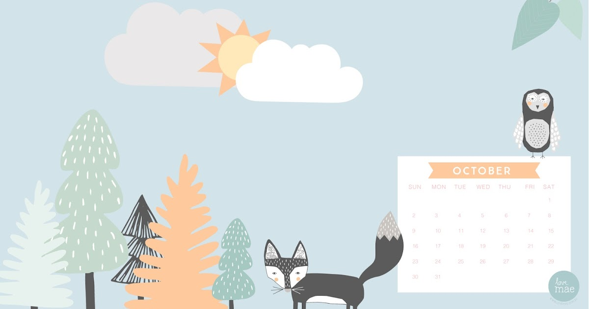 Calendar Wallpaper Love Mae : New desktop calendar for october love mae
