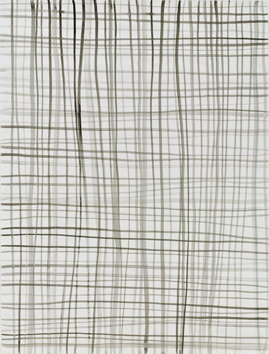 Silvia Bächli Lines 39, 2007 Ink on paper 198.8 x 149.9 cm