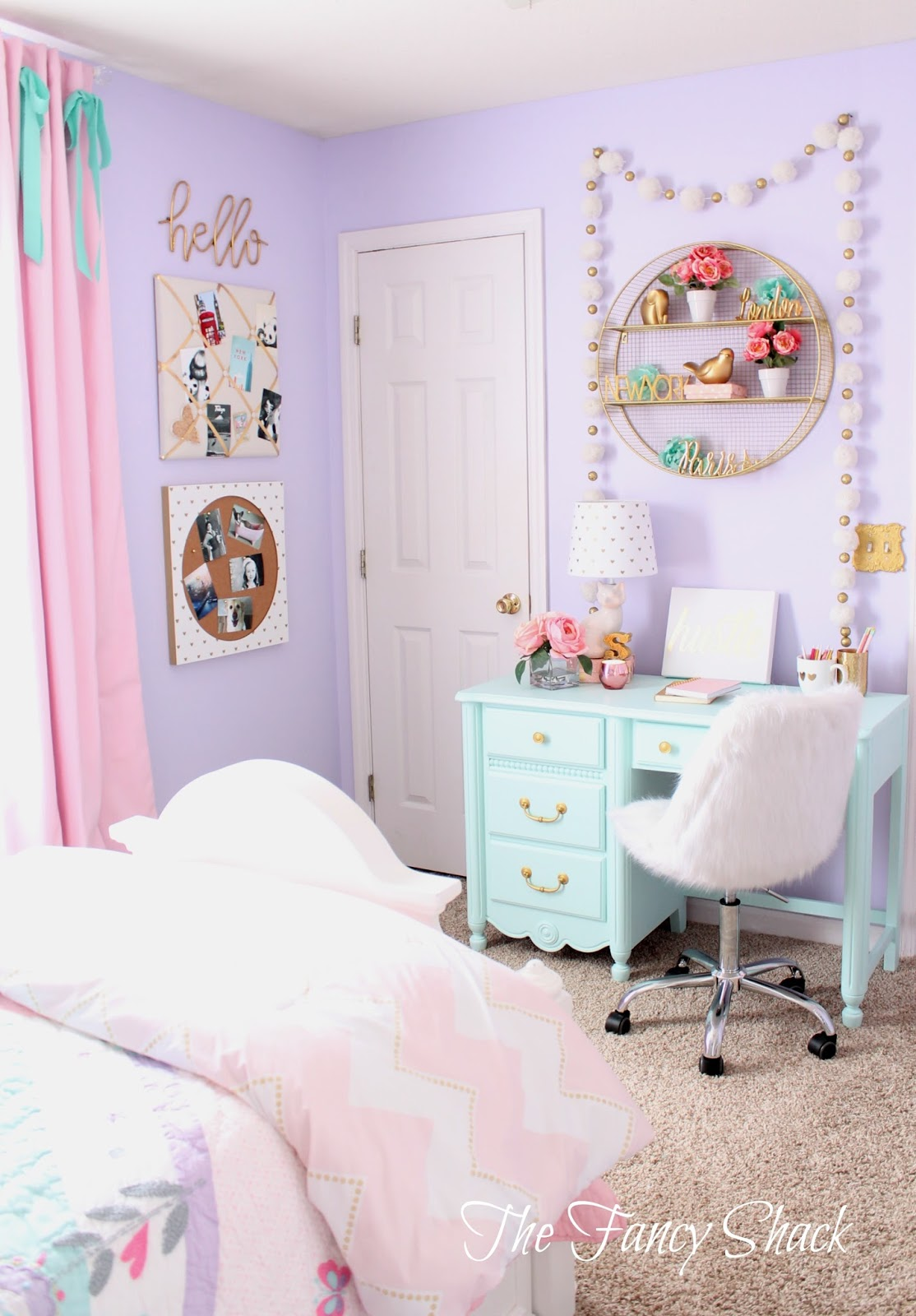 The Fancy Shack: Pastel Girls Room Makeover on Room Decor Aesthetic id=98268