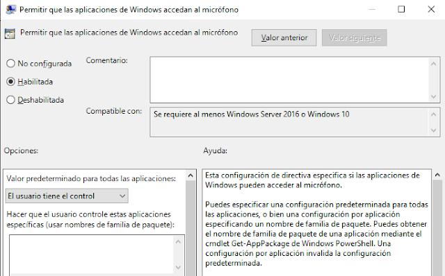 Windows: Configurar micrófono - GPO