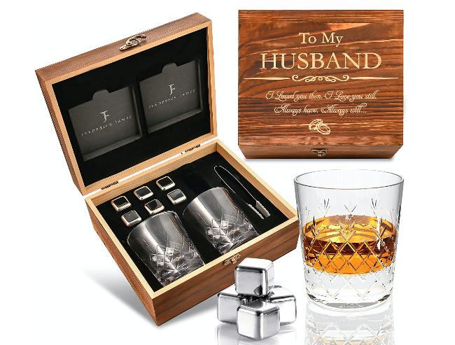 whiskey glass set 10 anniversary gift for wedding