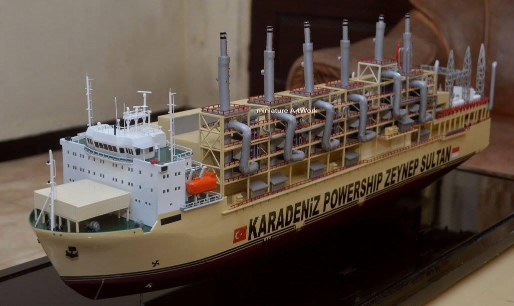 miniatur kapal karadeniz kar powership zeynep sultan power station vessel planet kapal rumpun artwork berkualitas