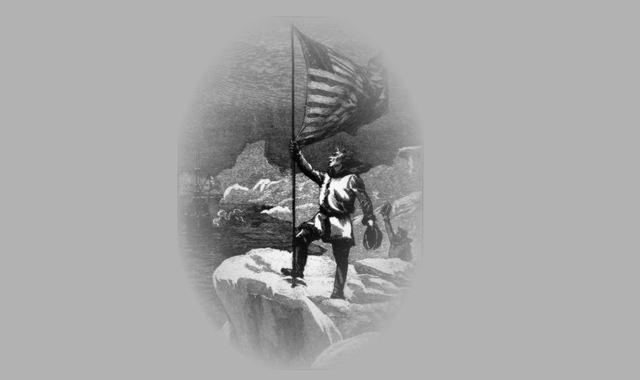 Soldat mit Fahne