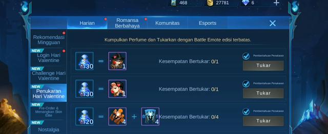 challenge battle event valentine gratis
