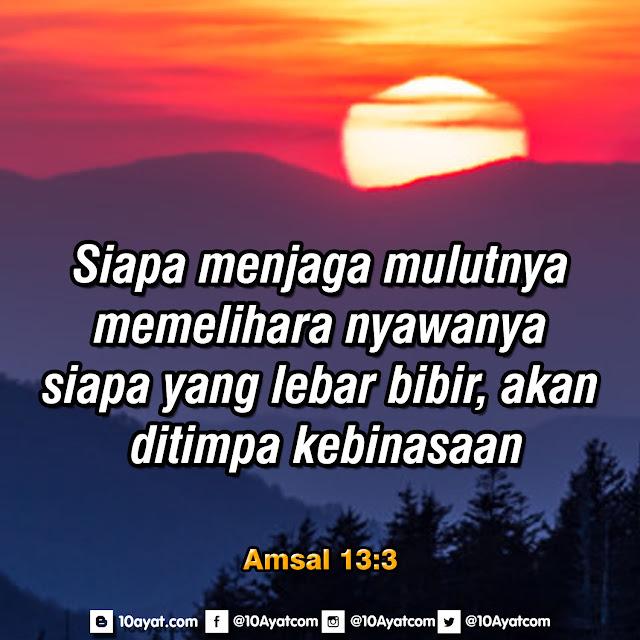 Amsal 13:3