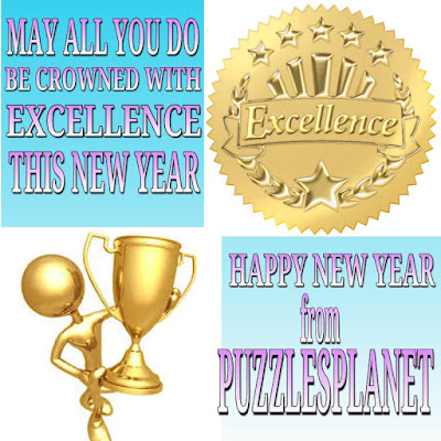 Happy new year free  brain training from puzzles planet