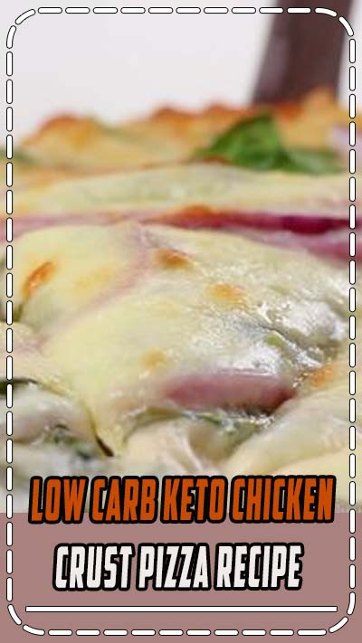 Low Carb Keto Chicken Crust Pizza Recipe - A low carb keto chicken crust pizza recipe with just 4 ingredients! Top it with creamy alfredo sauce, spinach, onions and mozzarella for a delicious and simple low carb dinner. #wholesomeyum #lowcarb #keto #dinner #glutenfree #easydinner #healthydinner #healthypizza
