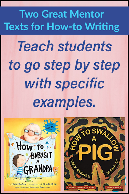 Two great mentor texts for how-to writing.  These books are perfect to carry with you during writing conferences as students write their own how-to books.