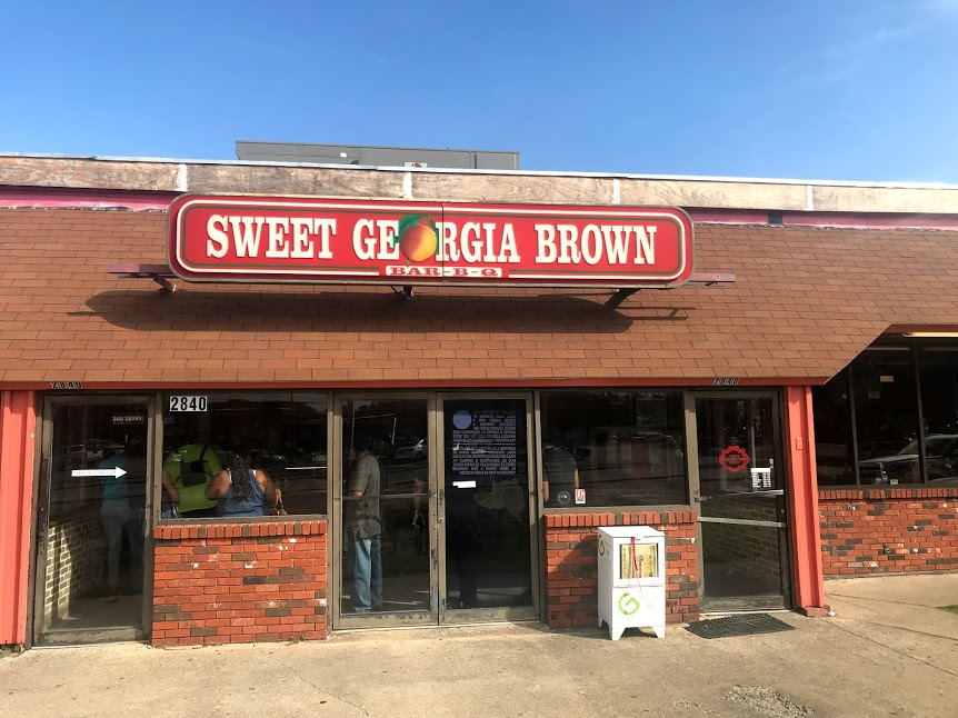 Image: Sweet Georgia Brown Building in Oak Cliff . Seen First On Bits and Babbles Blog. Favored in The City Diaries Section