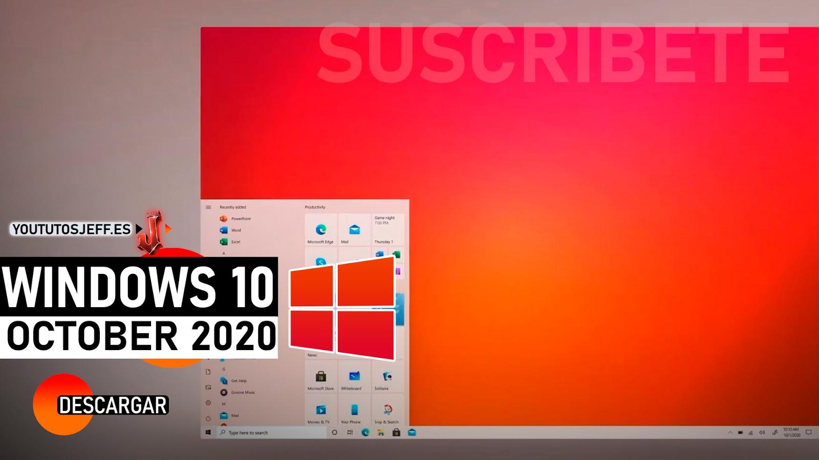Descargar Windows 10 October 2020 Ultima Versión Español