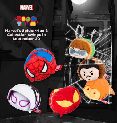 Spider-Man Tsum Tsum Marvel Plush Series 2 by Disney – Spider-Man, Spider-Gwen, Iron Spider, Doctor Octopus, Kraven the Hunter & Hobgoblin