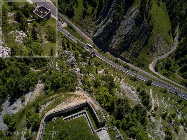 Fort du Larmont inférieur, retranchement du Chauffaud — Vue aérienne