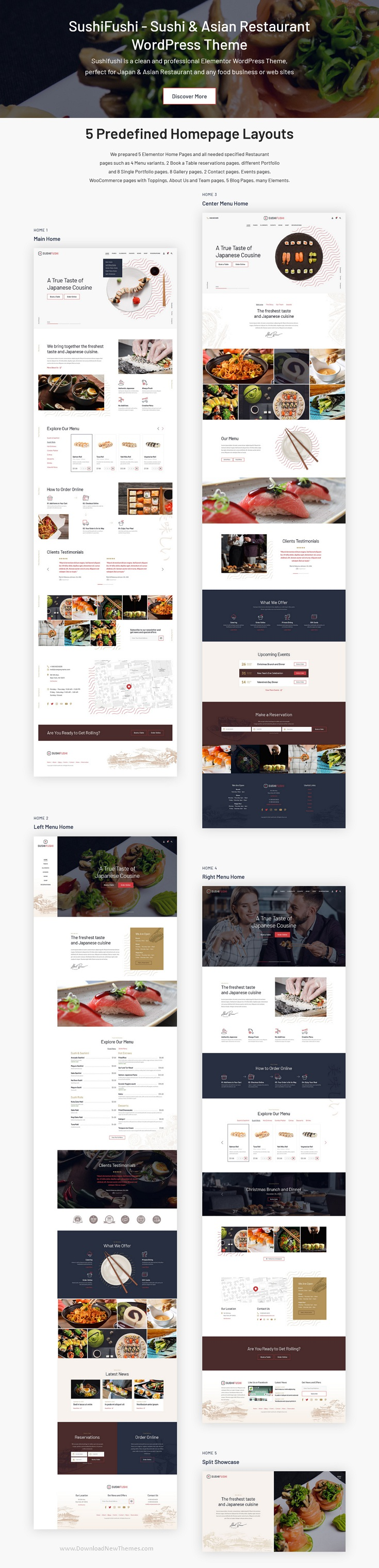 Sushi, Japanese Food & Asian Restaurant WordPress Theme