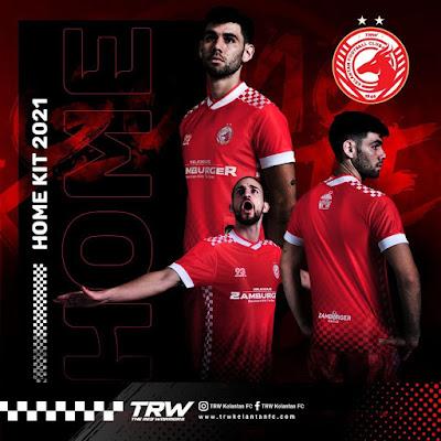Jersi Home TRW Kelantan FC 2021