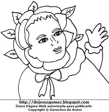 Dibujo de Isabel Flores de Oliva de bebé para colorear o pintar por Jesus Gómez