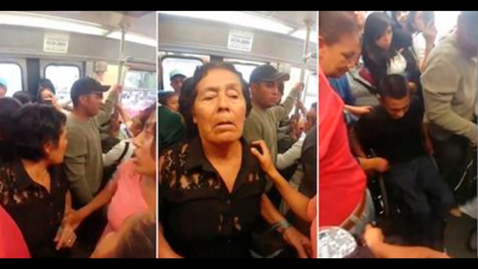 Mujeres insultan y humillan a joven con discapacidad en vagón del Tren Ligero porque les estorbaba (VIDEO)