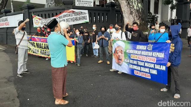 Aksi Tolak FPI di Kota Malang, Habib Rizieq Didoakan Segera Dapat Hidayah