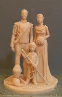 sculture personalizzate per giorno matrimonio ritratti sposi abiti personalizzati orme magiche