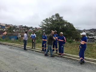 Obras de pavimentação são retomadas em Registro-SP