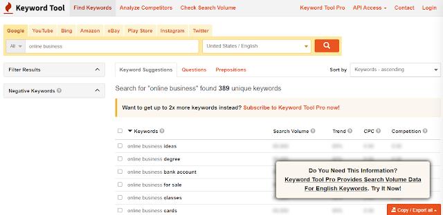 keywordtool.io for long tail keywords
