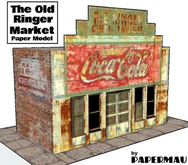 The Old Ringer Market Paper Model
