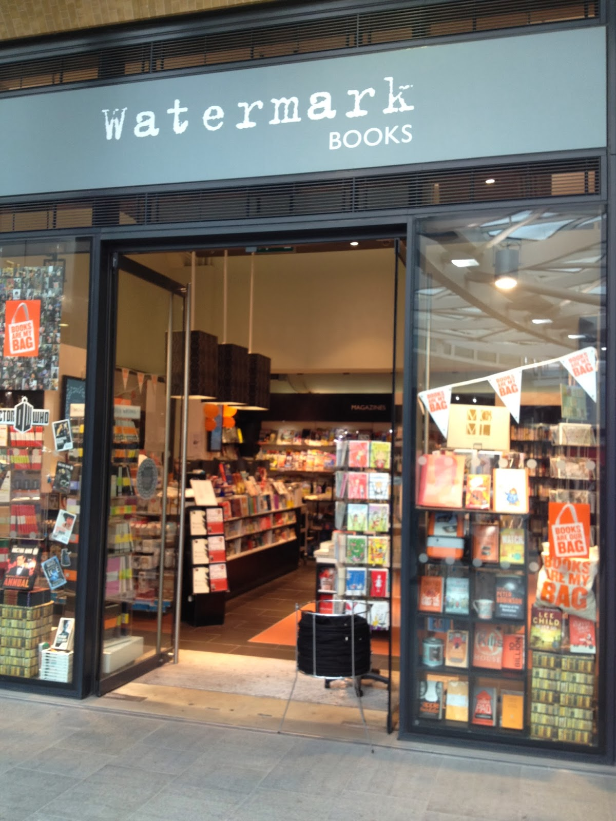 watermark bookshop books potter harry cross kings station corner front around crawl continuing destination come bag