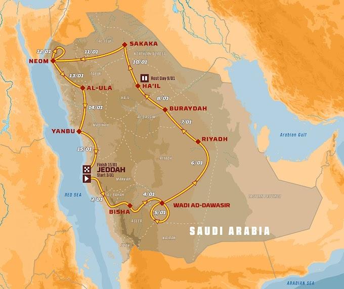 Rota do Rally Dakar 2021 é revelada