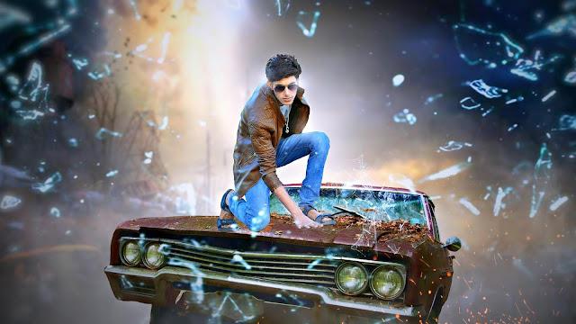 Picsart Manipulation Boy Jump On Car Movie Poster