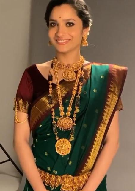 Ankitha Lokhande Antique Jewellery