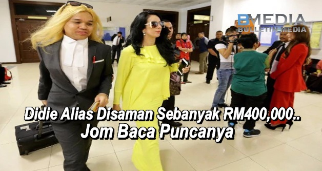 Pelakon Didie Alias Disaman Sebanyak RM400,000..Jom Baca Puncanya