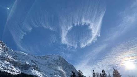 Η φωτογραφία της ημέρας: Κυλινδρικά σύννεφα στο Grindelwald της Ελβετίας