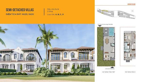 bản thiết kế mẫu semi detached villas trong dự án Habana Island Hồ Tràm