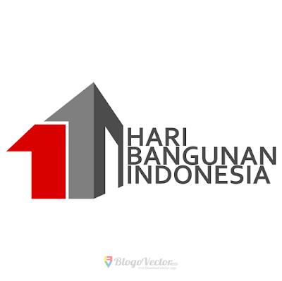 Hari Bangunan Indonesia Logo Vector