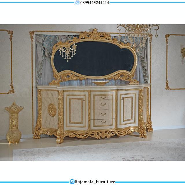 Great Carving Meja Konsul Mewah Jepara Ukiran Klasik Combination Color RM-0472