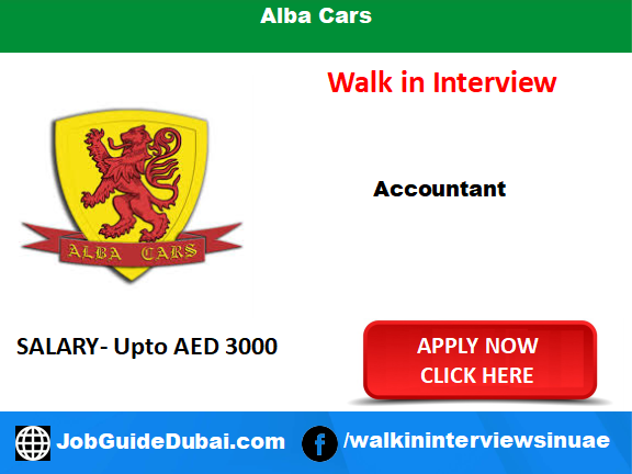 Walk in Interview for Accountant at Alba Cars