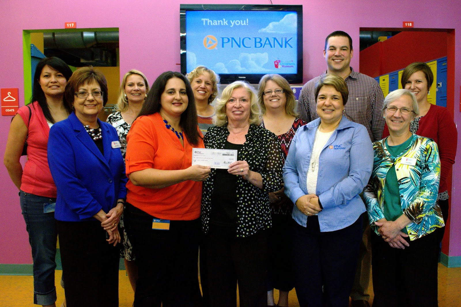 PNC Employees Volunteer and Present $6000 Check to DuPage