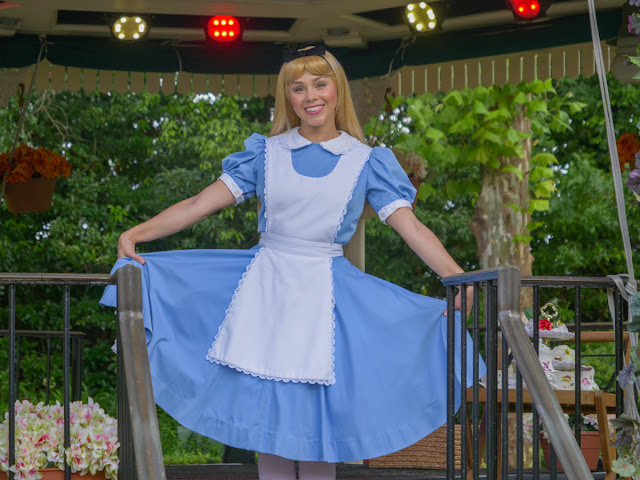 Reimagined Character meet and greets Alice Phased Reopening EPCOT United Kingdom Pavilion Walt Disney World Resort