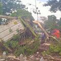 Diduga Rem Blong, Truk Tronton Tabrak Pagar Lalu Oleng ke Makam