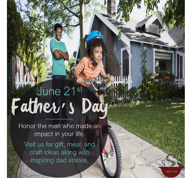 Gift, meal, craft and stories for father's