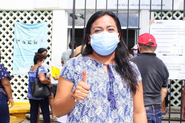 Yesenia Polanco invita a todos los yucatecos a ejercer su derecho al voto