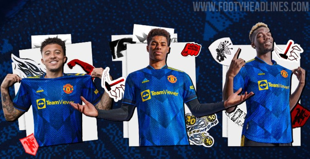 Manchester United 21-22 Third Kit Released - Yellow Shorts To ...