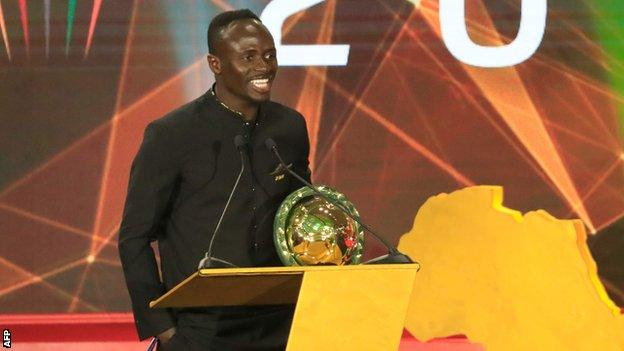 Liverpool's Sadio Mane named Caf African Player of the Year