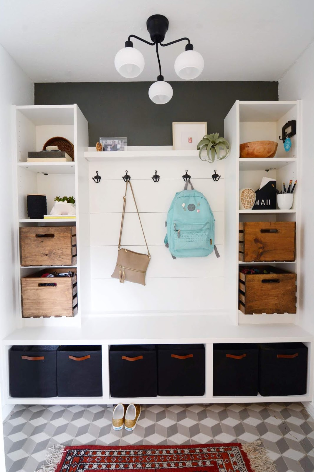 Making Our Mudroom: with IKEA products | House Homemade