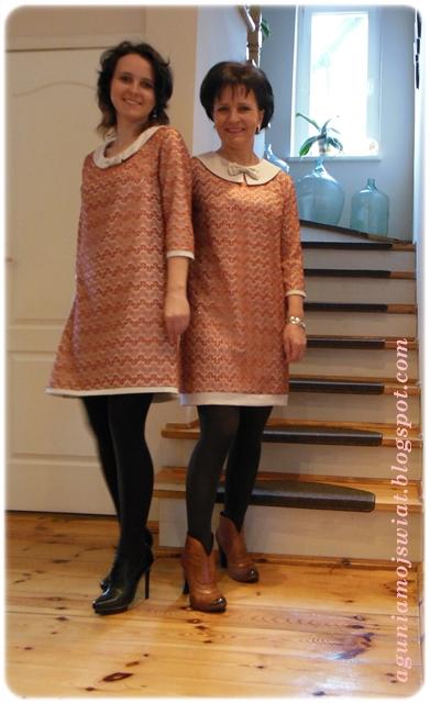Dwie takie same sukienki Burda 09/2012 model 109